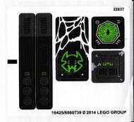 70130stk01 STICKER 70130 Spaaraus' Spider Stalker NIEUW *0S0000