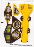 8105stk01 Sticker Iron Condor NIEUW loc