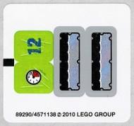 8188stk01 STICKER Power Mioners- Fire Blaster NIEUW *0S0000