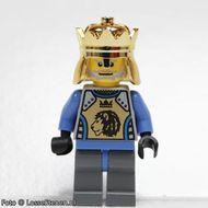 cas258 Koning Mathias, blauw vest met leeuw,. Kroon NIEUW loc