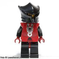 cas270 Vladek Minifig Harnas met schorpioenmotief, donkerrode helm met zwart vizier, boze blik (CAS03) NIEUW loc
