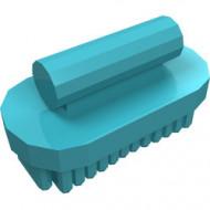 92355i-156 Friends borstel ovaal blauw, middenazuur NIEUW *0D0000