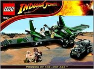 Set 7683 BOUWBESCHRIJVING-  Indiana Jones- Flight on the Flying Wing Star Wars NIEUW loc