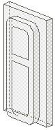 4036-12 Glas voor klein treinraam (met ribbel) 1x2x3 Transparant NIEUW loc