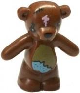 98382pb004-88 Teddybeer (Bobo, Simpsons) (voorpoten naar beneden) bruin, roodachtig NIEUW *0D000