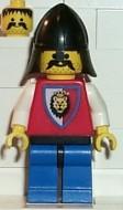 cas064G Royal Knights - Knight 3, met black helm gebruikt loc