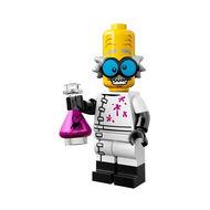col14-3 Monsterwetenschapper met kolf en standaard NIEUW loc Halloween