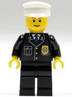 cty0005G Brandweerman, baard, zilveren helm, jas met reflectiestrepen gebruikt *0M0000