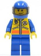 cty0075G Kustwacht- ATV bestuurder, blauwe helm gebruikt *0M0000