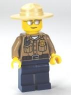 cty0260G Bospolitie, donjercreme hemd, hoed met brede rand gebruikt *0M0000
