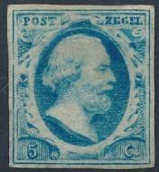 CU9001 Postzegelcollectie- Nederland nummer 1 op tegel 2x2 wit