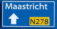 CUS1099 Routebord Maastricht N278 (2x4) blauw NIEUW *0A000