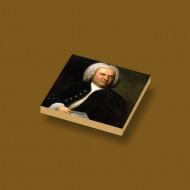 CUS4016 Tegel 2x2 Portret Bach crème,donker NIEUW *0A000