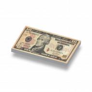 CUS7003 Tegel 1x2 Biljet 10 dollar geel *0A000