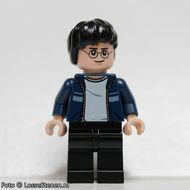 hp087 MINIPROMO Harry Potter, donkerblauwe open jas, zwarte broel NIEUW loc