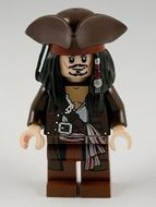 poc011G Pirates of the Carribean- Captain Jack Sparrow with Tricorne  gebruikt loc