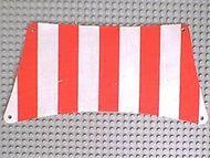 sailbb05-1G Zeil 30x15 Rode dikke strepen (Bodem) wit gebruikt *5D000