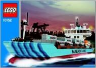 Set 10152 BOUWBESCHRIJVING- Maersk Containerschip  gebruikt loc
