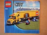 Set 3221 BOUWBESCHRIJVING- Grote LEGO truck gebruikt loc LOC M1