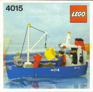 Set 4015 BOUWBESCHRIJVING- Vrachtboot gebruikt loc LOC M1