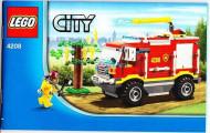 Set 4208 BOUWBESCHRIJVING- 4x4 Fire Truck Auto gebruikt loc