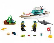 Set 60221-GB Diving Yacht gebruikt deels gebouwd *1B003