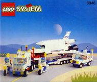Set 6346 BOUWBESCHRIJVING-  Shuttle Launching Crew Ruimtevaart gebruikt loc