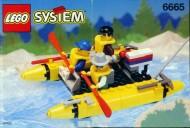 Set 6665 BOUWBESCHRIJVING- River Runners Helikopter gebruikt loc LOC M3