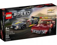 Set 76903 Chevrolet Corvette C8.T Race Car and 1968 Chevrolette Corvette NIEUW B036