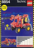 Set 8854 BOUWBESCHRIJVING- Power Crane gebruikt loc LOC M7