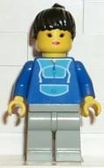 trn015G Jogging Suit - Light Gray benen, Black Female Hair met Ponytail gebruikt loc