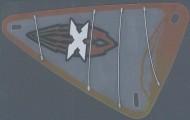 x772px1-12G Zeil 9x15 Island Xtreme Stunts logo (plastic) transparant gebruikt *5D000