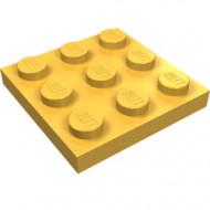 11212-110 Platte plaat 3x3 oranje, lichthelder NIEUW *5K0000