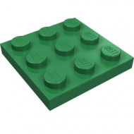 11212-6 Platte plaat 3x3 groen NIEUW *5K0000