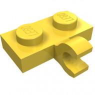 11476-3 Platte plaat 1x2 met horizontale clip LANGE einde geel NIEUW *1L0000