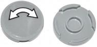 14769pb010-86G Tegel 2x2 rond met nopgat RONDE PIJL (sticker) grijs, licht (blauwachtig) gebruikt *1L0000