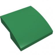 15068-6G Dakpan rond 2x2x2/3 geen noppen afgerond groen gebruikt *1L278