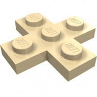 15397-2 Platte plaat 3x3 kruis crème NIEUW *1L0000