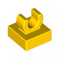 15712-3 Tegel 1x1 met clip bovenop afgeronde hoeken geel NIEUW *1L288/4