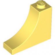 18653-103 Steen,omgekeerde halve boog 1x3x2 geel, lichthelder NIEUW *