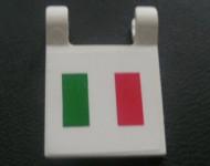2335pb0023-1 Vlag 2x2 met Italiaanse vlag wit gebruikt *