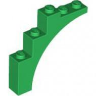 2339-6 Steen, halve boog 1x5x4 (trapsgewijs) groen NIEUW *