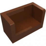 23969-88 Paneel 1x1x2 bankje met zijkanten bruin, roodachtig NIEUW *1L0000