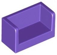 23969-89 Paneel 1x1x2 bankje met zijkanten paars, donker NIEUW *1L0000
