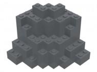 23996-85 Symetrisch rotsstuk (MURP) (ALLEEN MET PAKKETPOST!) Grijs,donker-blauwachtig NIEUW loc