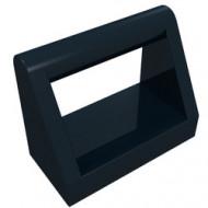 2432-11 Tegel 1x2 met hendel bovenop zwart NIEUW *1L321