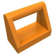 2432-4 Tegel 1x2 met hendel bovenop oranje NIEUW *1L0000