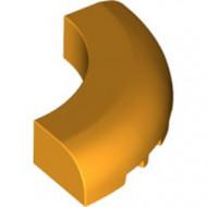 24599-110 Steen 5x5x1 gebogen (Macaroni) oranje, lichthelder NIEUW *