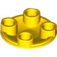 2654-3 Platte plaat 2x2 rond afgeronde bodem geel NIEUW *1L137