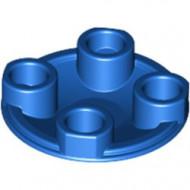 2654-7E EUROVOORDEEL: 15x 'Platte plaat 2x2 rond afgeronde bodem blauw NIEUW *1L137